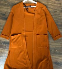 Rozsda színű oversized poncsó/kardigán H&M