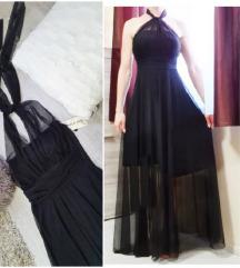 fekete tüll maxi ruha + ajándék ÚJ!