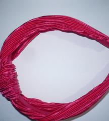 F&F pink szatén hajpánt új