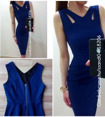 Kék midi fazonú alkalmi ruha