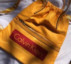 Citromsárga Calvin Klein tornazsák/ hátizsák