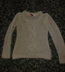 Rövid kötött pulóver