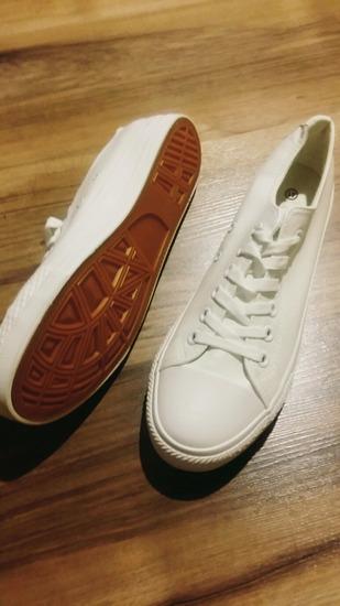 fehér műbőr tornacipő