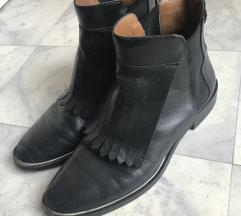 Zara bőr bokacsizma