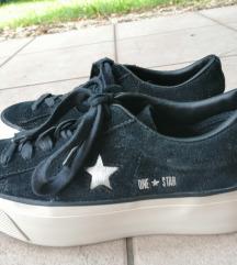 Bőr Converse platform cipő