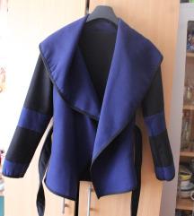 Kék/fekete tavaszi kabát