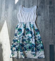 Virágmintás pamut nyári ruha.