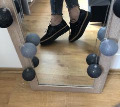 ZARA platform lakkcipő