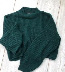 Tally Weijl zöld crop pulóver xs