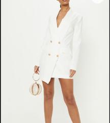 Teljesen ÚJ Pretty Little Thing fehér blézer ruha