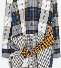 Zara kockas shirt dress