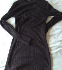 Boohoo bordázott fekete ruha M méret