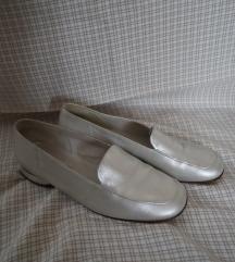 Vintage bőr balerina, ezüst