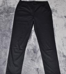 Szürkés - fekete szövet nadrág
