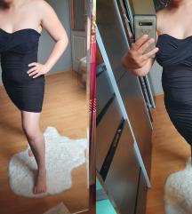 Fekete pántnélküli ruha