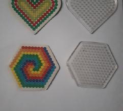 Szív és hatszög műanyag sablon - 100 Ft/2 db