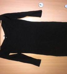 Fekete vállnélküli ruha