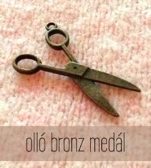 Bronz olló medál
