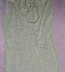 Victoria Moda khaki fodros ruha