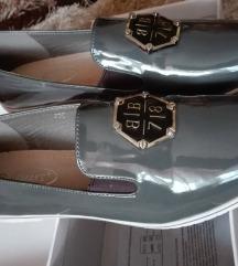 Szürke lakk női cipő 40- es