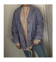 LEÁRAZVA! Oversized vintage lila bőrkabát