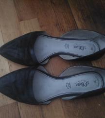 Fekete velúrbőr cipő 38