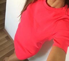 Zara fesztivál neon pink dress ruha S /xs