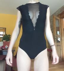 Fekete csipkés body