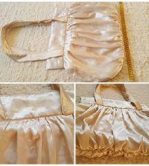 Metál krém táska