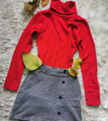 Piros garbós pulcsi