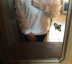 Bershka szőrös ujjú pulcsi