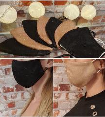 Alkalmi csillogó fekete arany maszk + ajándék