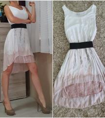 fehér-púder ombre ruha + ajándék ÚJ
