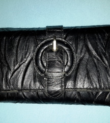 Fekete,nagyméretű,pakolós,pénztárca
