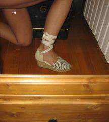 Vászon cipő szandál bokára tekerős