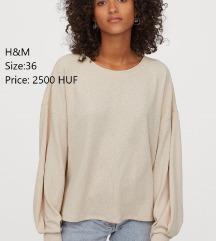 H&M beige blouse