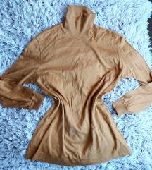 Sárga garbó pulóver