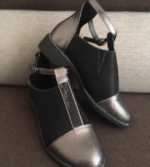 Bronz-fekete cut out cipő 37 FOGLALVA