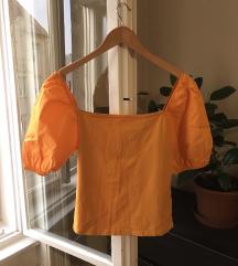 H&M narancs peplum felső, S