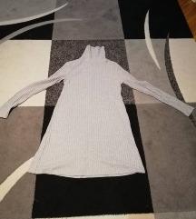 szürke garbós, kötött rövid ruha