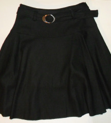 S, 36 - Újszerű fekete szoknya, téli, átmeneti