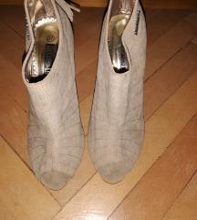 Bézs nude magassarkú cipő új