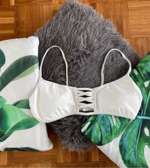 Hollister fehér S bikini felső