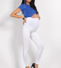 Fehér kismama leggings
