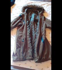 sötétzöld parka kabát
