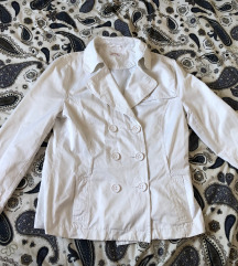 Fehér átmeneti kabát