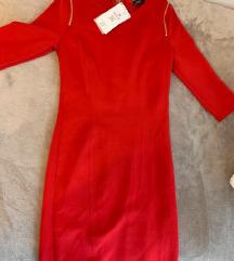 Új BERSHKA piros ruha