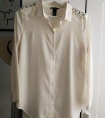 H&M Törtfehér szegecses vállú blúz