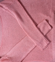 Kötött rózsaszín pulóver