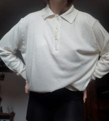 Fehér ingnyakú pulcsi
